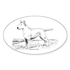White Bull Terrier Decal