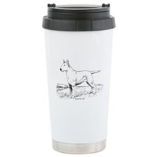 White Bull Terrier Travel Mug