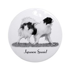 Japanese Spaniel Ornament (Round)