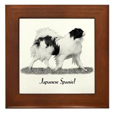 Japanese Spaniel Framed Tile
