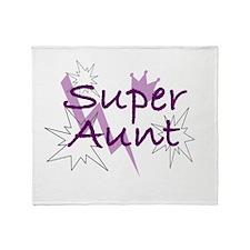 Super Aunt Throw Blanket