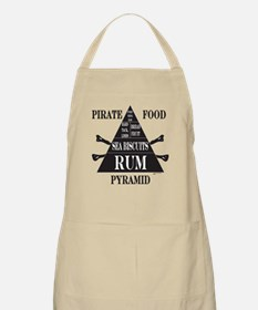 Pirate Food Pyramid Black Apron