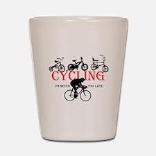 Cycling Cyclists Shot Glass