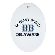 Bethany Beach - Varsity Design Ornament (Oval)
