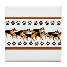 GSD with PawPrints Tile Coaster