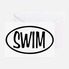 Swim Oval Greeting Cards (Pk of 20)