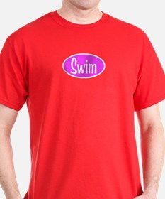 Swim Pink Oval T-Shirt