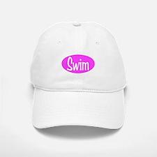 Swim Pink Oval Baseball Baseball Cap