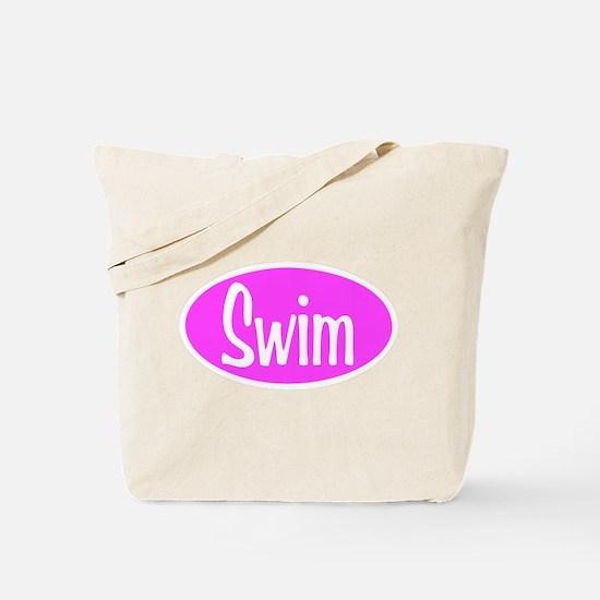 Swim Pink Oval Tote Bag