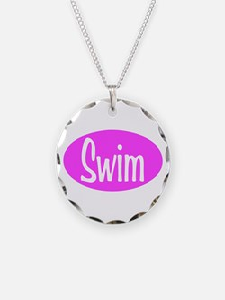 Swim Pink Oval Necklace