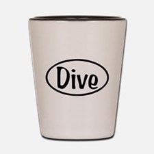 Dive Oval Shot Glass