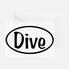 Dive Oval Greeting Cards (Pk of 10)