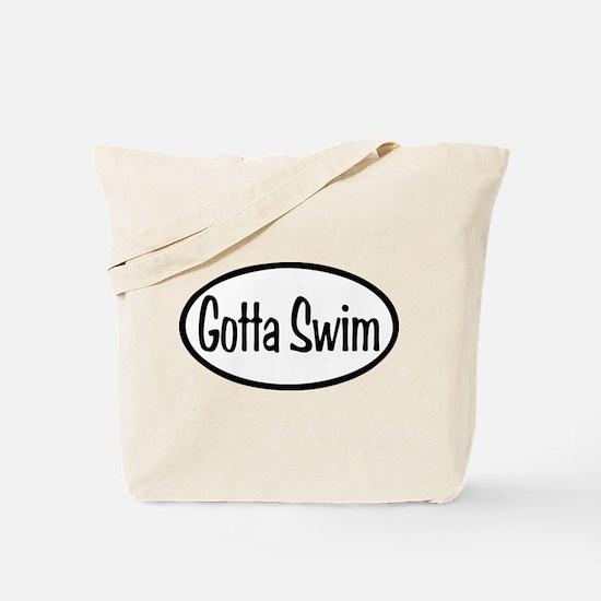 Swim Oval Tote Bag