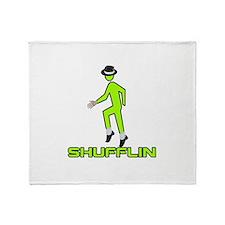 Shufflin Shufflin Green Walke Throw Blanket