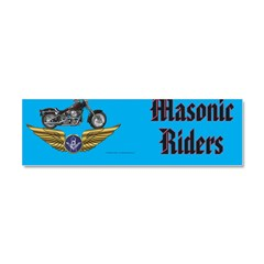 Masonic Bikers Car Magnet 10 x 3