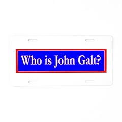 John Galt Aluminum License Plate