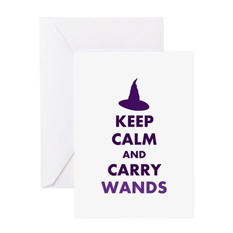 Carry Wands Greeting Card