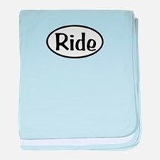 Ride Oval baby blanket