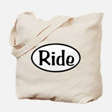 Ride Oval Tote Bag