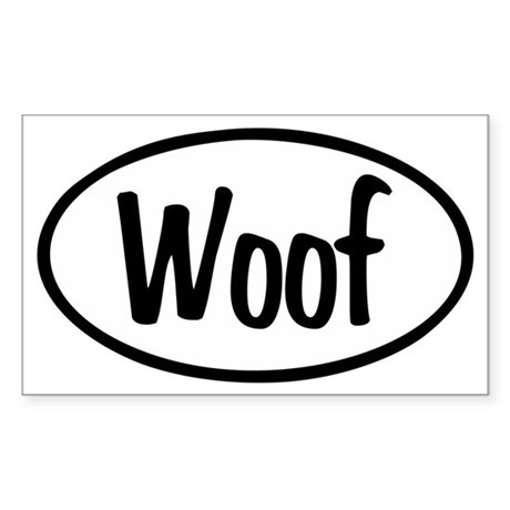Woof Oval Sticker (Rectangle)