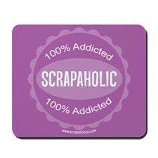 Scrapaholic - Purple Mousepad