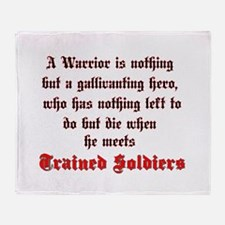 Warrior vs. Soldier Throw Blanket
