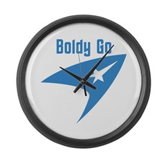 Boldly Go Large Wall Clock