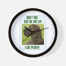 Don't Give Me Lip Wall Clock