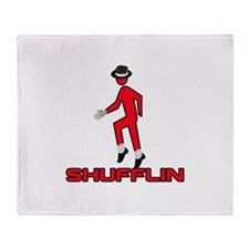Shufflin Shufflin Red Walker Throw Blanket