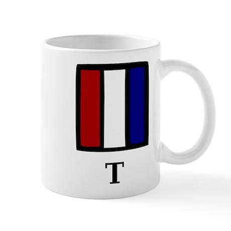 Nautical Letter T Mug