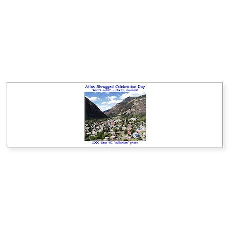 Atlas Shrugged Celebration Day Sticker (Bumper 50