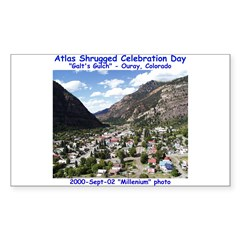 Atlas Shrugged Celebration Day Rectangle Decal