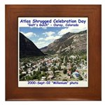 Atlas Shrugged Celebration Day Framed Tile