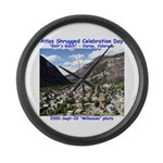 Atlas Shrugged Celebration Day Large Wall Clock