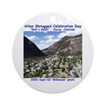 Atlas Shrugged Celebration Day Ornament (Round)