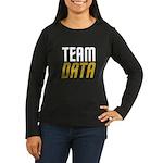 Team Data Women's Long Sleeve Dark T-Shirt