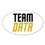 Team Data Sticker (Oval 10 pk)