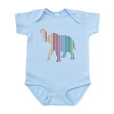 Colorful Elephant Stripes Infant Bodysuit