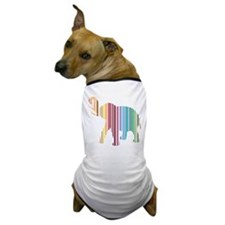 Colorful Elephant Stripes Dog T-Shirt