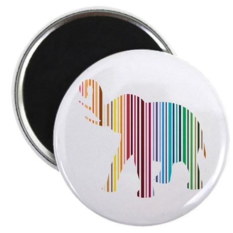 "Colorful Elephant Stripes 2.25"" Magnet (10 pack)"