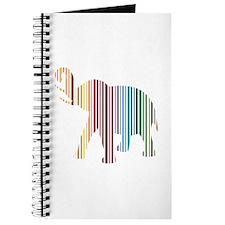 Colorful Elephant Stripes Journal