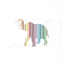 Colorful Elephant Stripes Aluminum License Plate