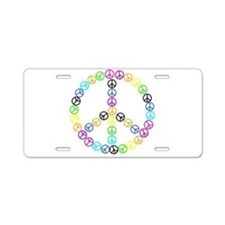 Peace Signs Aluminum License Plate