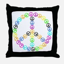 Peace Signs Throw Pillow