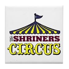 Shriners Circus Tile Coaster