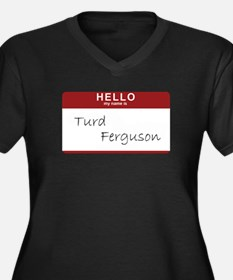 Cool Trebek Women's Plus Size V-Neck Dark T-Shirt