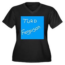 Cute Trebek Women's Plus Size V-Neck Dark T-Shirt