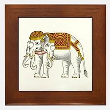 Thai Erawan White Elephant Framed Tile