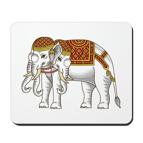 Thai Erawan White Elephant Mousepad