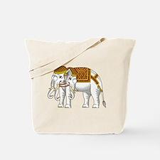 Thai Erawan White Elephant Tote Bag